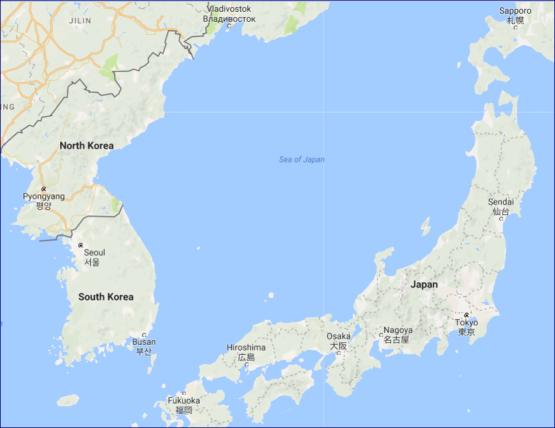 map koreas