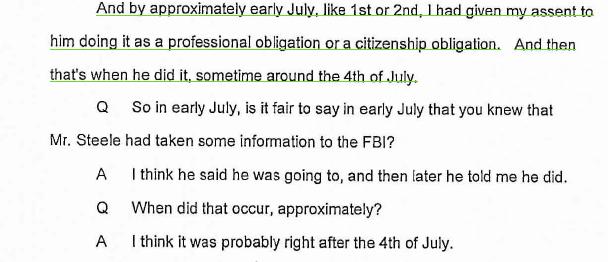 Steele talks to FBI